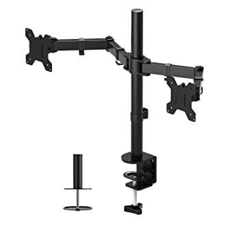 Magnificent 1Home Double Twin Arm Desk Mount Ergonomic Tv Lcd Monitor Computer Screen Bracket Dual Tilt Swivel Rotation 13 27 Vesa Dimensions 75X75 100X100 Home Interior And Landscaping Mentranervesignezvosmurscom