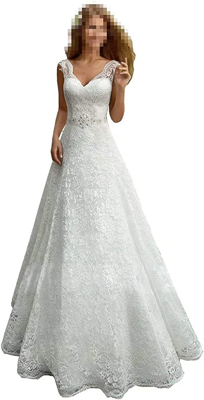 Wedding Dress Women S Romantic V Neck Lace Beach Wedding Dresses For Bride A Line Lace Up Bridal Dresses Ball Gowns At Amazon Women S Clothing Store,Average Cost Of Wedding Dress Alterations 2020