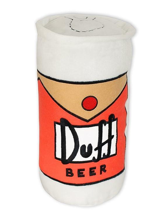 The Simpsons Duff Beer cojín - de terciopelo, crema-blanco ...