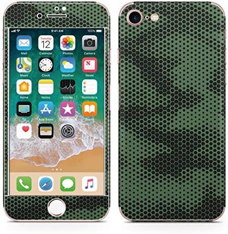 igsticker iPhone SE 2020 iPhone8 iPhone7 専用 スキンシール 全面スキンシール フル 背面 側面 正面 液晶 ステッカー 保護シール 011571 迷彩 模様 カモフラ