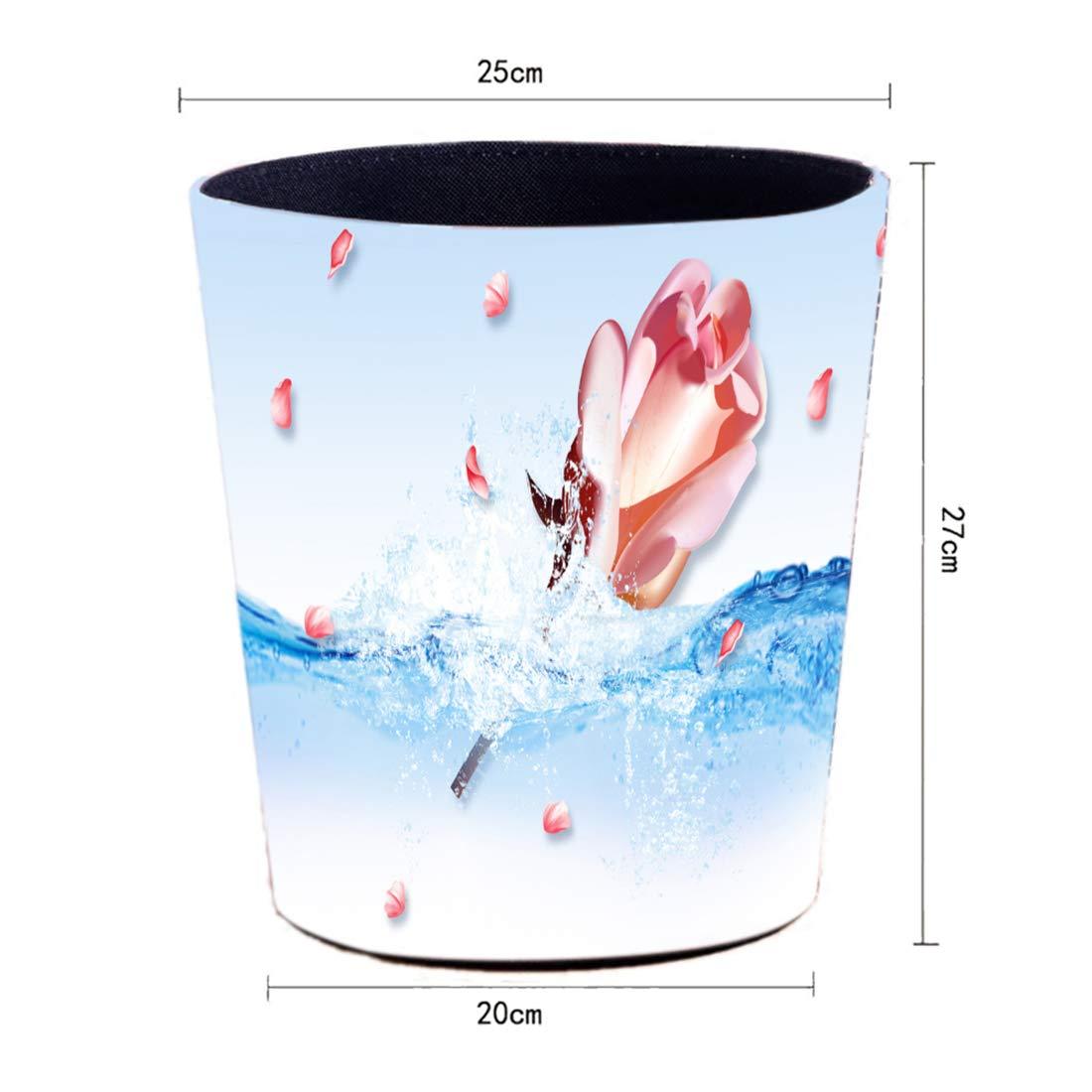 Searchyou 10 litros Papelera Impermeable de Estilo Europeo Cubos de Basura sin Tapa Papelera para Oficina Cocina PU Papelera