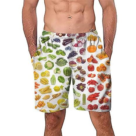 Uomo costume bagno Shorts Pantaloni Corti Shorts uomini HERREN BERMUDA ARANCIONE