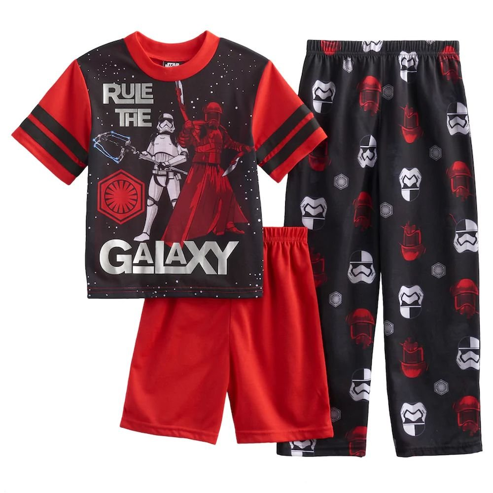 Star Wars Boys Size 6 Kylo Ren Rule The Galaxy 3-Piece Pajama Set