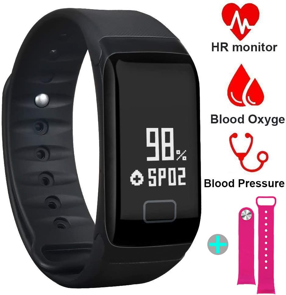 Fitness Tracker, Activity Tracker Watch with Heart Rate and Sleep Monitor,Fitness Watch with Blood Pressure Blood Oxygen Monitor, Step Counter, Calorie Counter, Pedometer Watch for Kids Women and Men