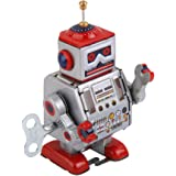 HOMYL Vintage Style Robot MS406 Retro Clockwork Wind Up Tin Toy for Kids