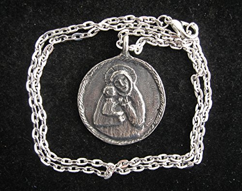 Our Lady of Ghisallo, Patron of Cyclists: Handmade Medal on Chain