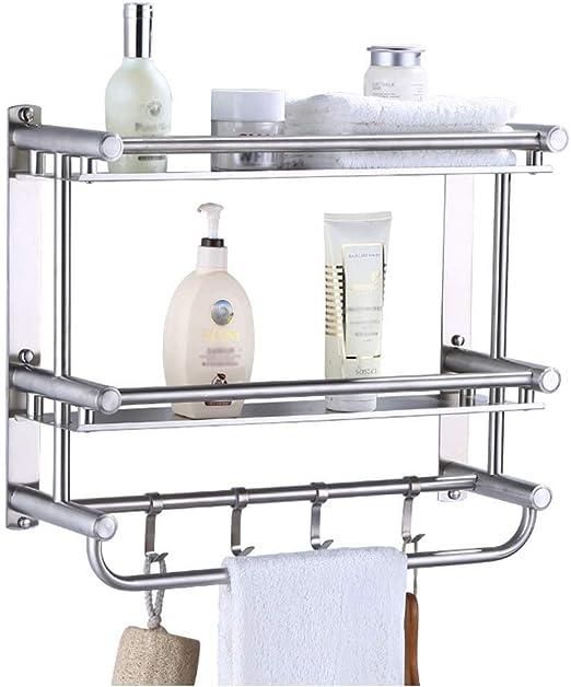 "2-Tier Bathroom Shower Shelf Towel Toilet Organizer Bath Rack Storage 24/""AQ"