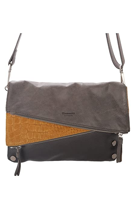 Hammitt Dillon Crossbody Bag (Awa Macaw N Suede Brushed Silver ... 35d151f1baf14