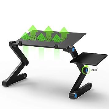 JUSTDODO - Soporte ajustable para ordenador portátil, mesa ajustable y con ventilación: Amazon.es: Hogar