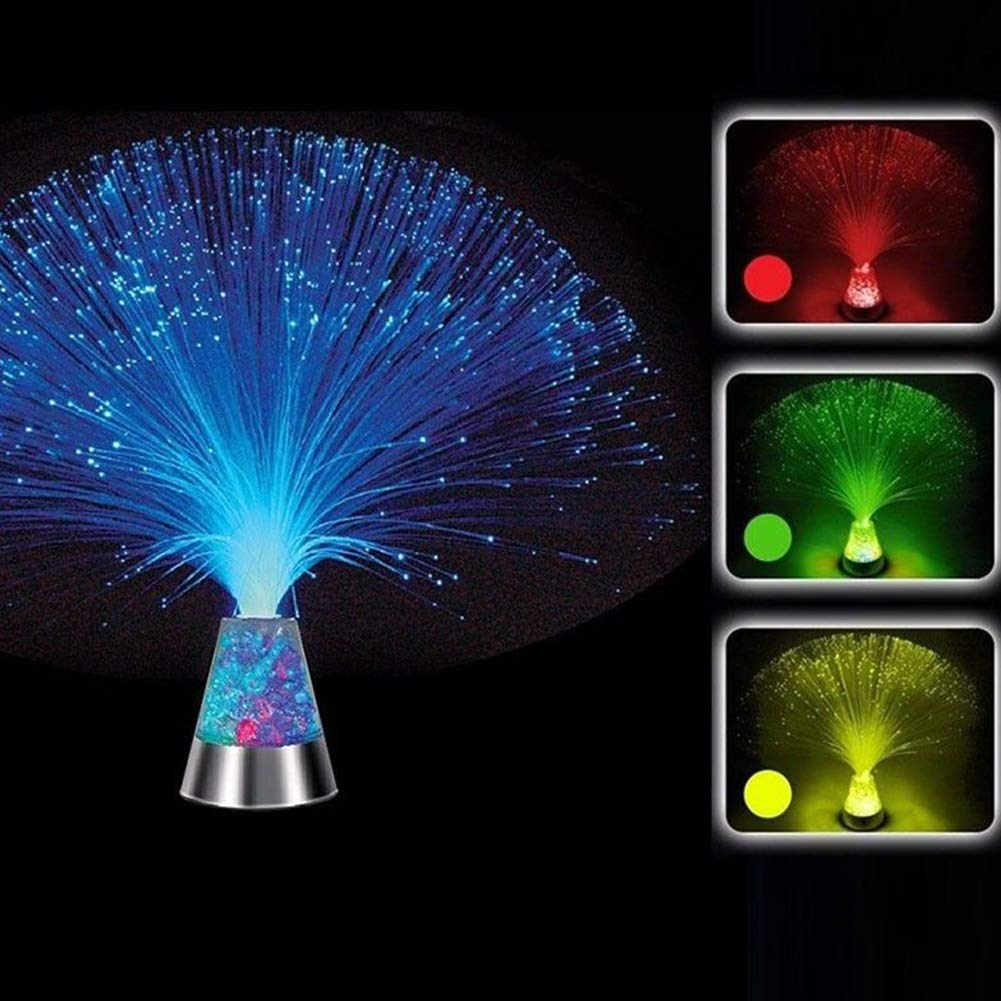 Fiber Optic Mood Novelty Lamp, LED RGB Color Changing Fiber Optic Lamp with Crystal Base, Remote Controlled Decorative Lamp for Wedding Christmas Halloween Holiday Party(Colour Changing) Onner