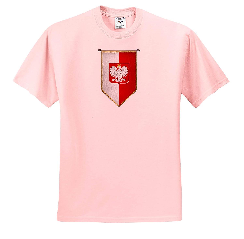 Illustrations Poland Flag Pennant Vertical Polish Banner Adult T-Shirt XL 3dRose Carsten Reisinger ts/_315441
