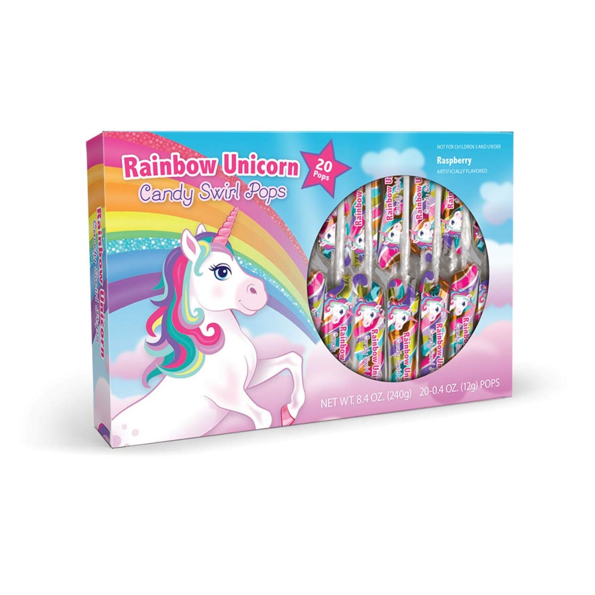 Unicorn Swirl Lollipops