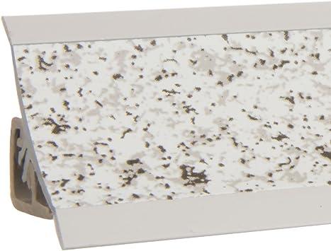 HOLZBRINK K/üchenabschlussleiste Granit K/üchenleiste PVC Wandabschlussleiste Arbeitsplatten 23x23 mm 150 cm