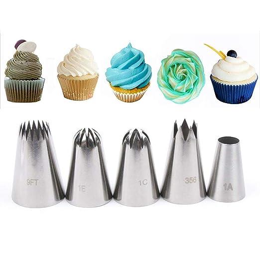 Gracelaza - Juego de Puntas para decoración de Pasteles (tamaño Grande), diseño de pastelería