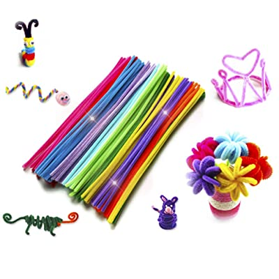 SUPVOX 200Pcs Pipe Cleaners Set Chenille Stems Colors Arts Chenille Stem for DIY Art Creative Crafts Decorations: Toys & Games