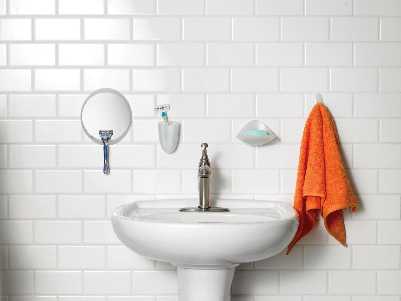 Merveilleux Command BATH15 ES E Fog Resistant Mirror, 1 Mirror, 2 Water Resistant  Strips (BATH15 ES)     Amazon.com