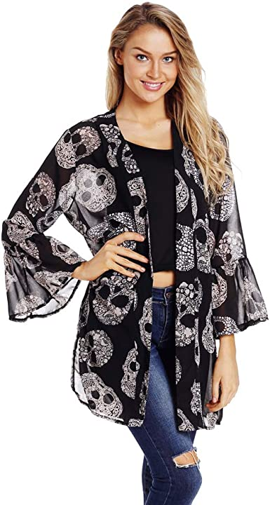Ladies Lovely 3//4 length Sleeve Loose Fit Flared Flare Grey Cardigan Jacket 16
