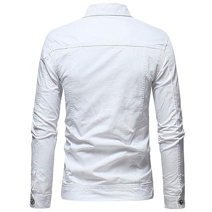 iZHH Mens Jacket Button Vintage Denim Jacket Tops Blouse Coat at Amazon Mens Clothing store: