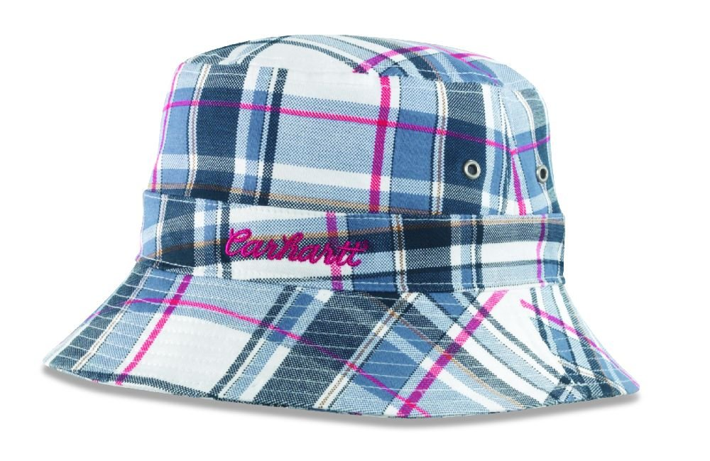 Carhartt Women's Plaid Bucket Hat,Blue,S/M