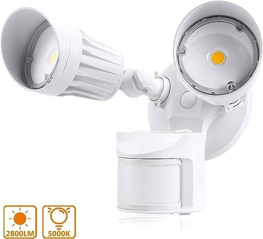 Foco LED con Sensor de Movimiento, Lacyie 36W Lámparas de ...