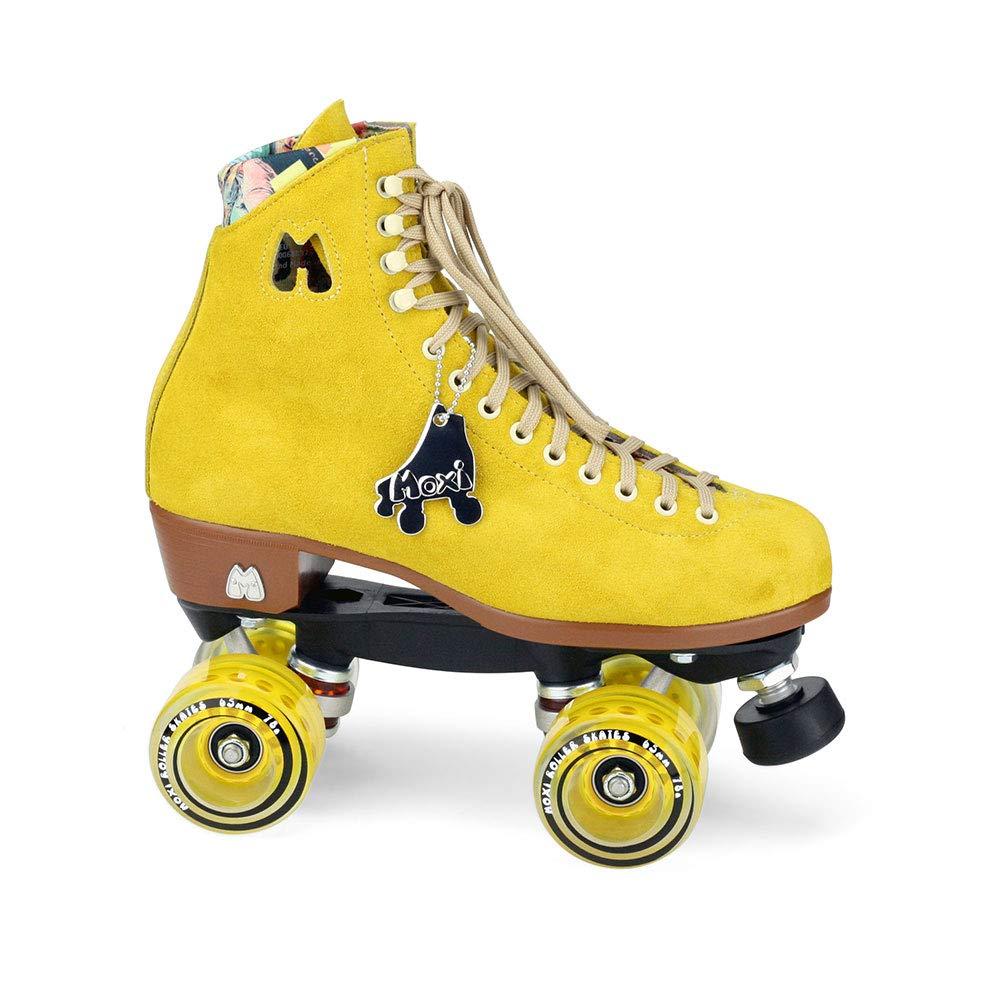 Moxi Skates - Lolly - Fashionable Womens Quad Roller Skate | Pineapple Yellow | Size 4
