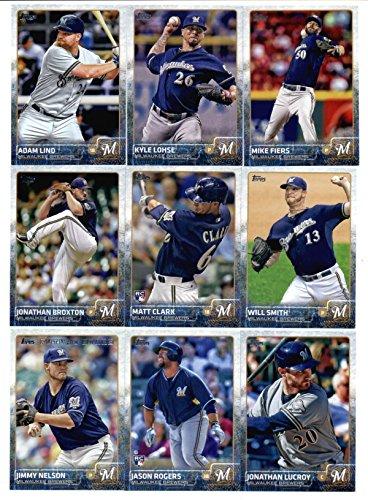 2015 Topps Baseball Cards Milwaukee Brewers Tandem join up Set (Series 1 & 2 - 24 Cards) Including Matt Garza, Lyle Overbay, Scooter Gennett, Khris Davis, Jean Segura, Ryan Braun, Mark Reynolds, Zach Duke, Gerardo Parra, Carlos Gomez