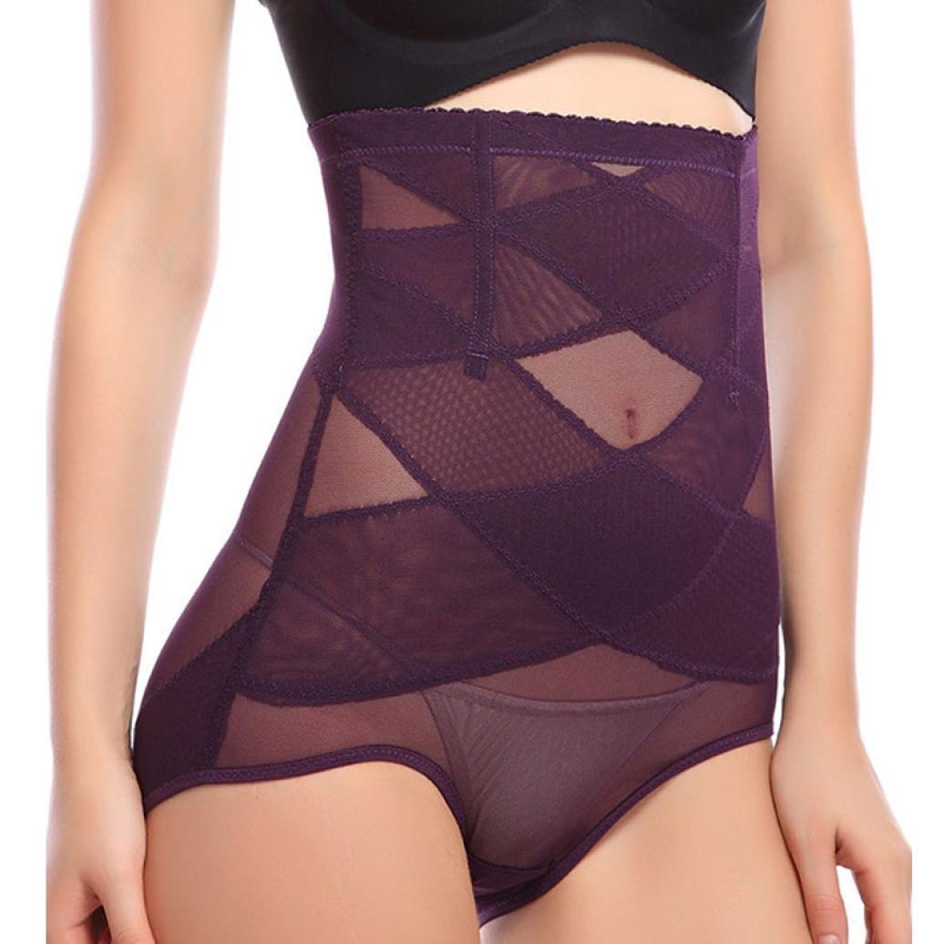 Gotd Women High Waist Cincher Shapewear Corset Tummy Control Abdomen Pant Underwear (M, Flesh)