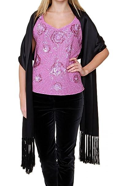 nuova collezione dove comprare stili diversi Luisa Spagnoli Sciarpa di seta RAMONA, donna, Colore: Nero ...