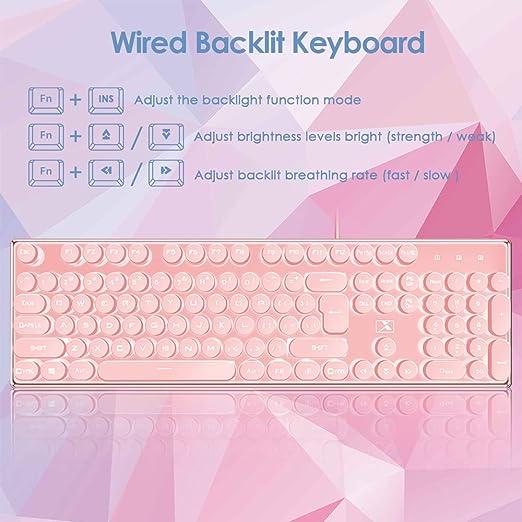 La Souris Gaming Tastatur Und Mauspad 104 Tasten Computer Zubehör