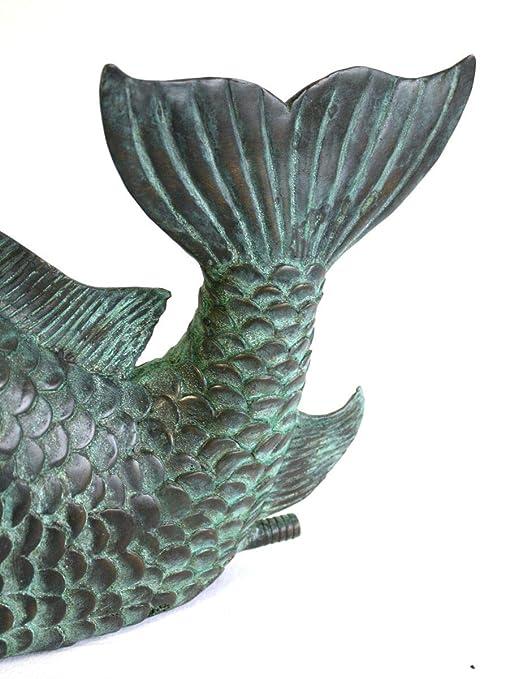 Bronzeskulptur 5 kleine Spatzen Vogelgruppe Gartendekoration aus Bronze