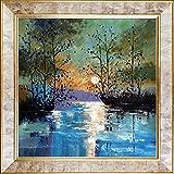 overstockArt River, con Glowing Moon de Justyna Kopania Reproducción pintada a mano con aceite