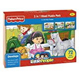 Fisher Price 3 in 1 Wood Puzzle Pack