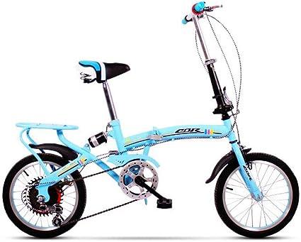 AOHMG Bicicleta Plegable Adulto, 6-velocidades City Peso Ligero ...