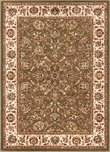 Well Woven Persian Oriental Area Rug Green 3x5 4x6 (3'11