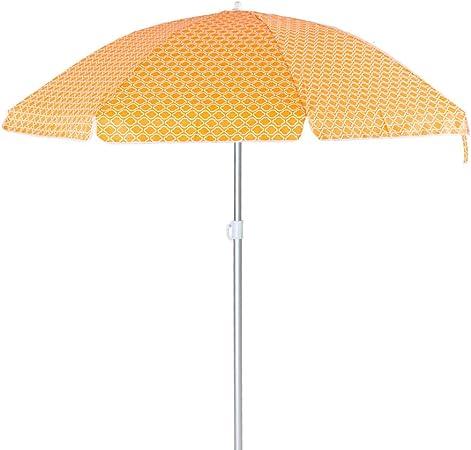 Sombrilla Playa Parasol Naranja de Aluminio de Ø 180 cm - LOLAhome: Amazon.es: Hogar
