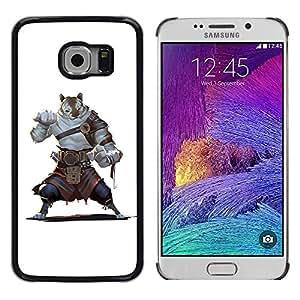 """For Samsung Galaxy S6 EDGE / SM-G925(NOT FOR S6) Case , Cartoon Comics Carácter Tigre Guerrero Fuerte"""" - Diseño Patrón Teléfono Caso Cubierta Case Bumper Duro Protección Case Cover Funda"""
