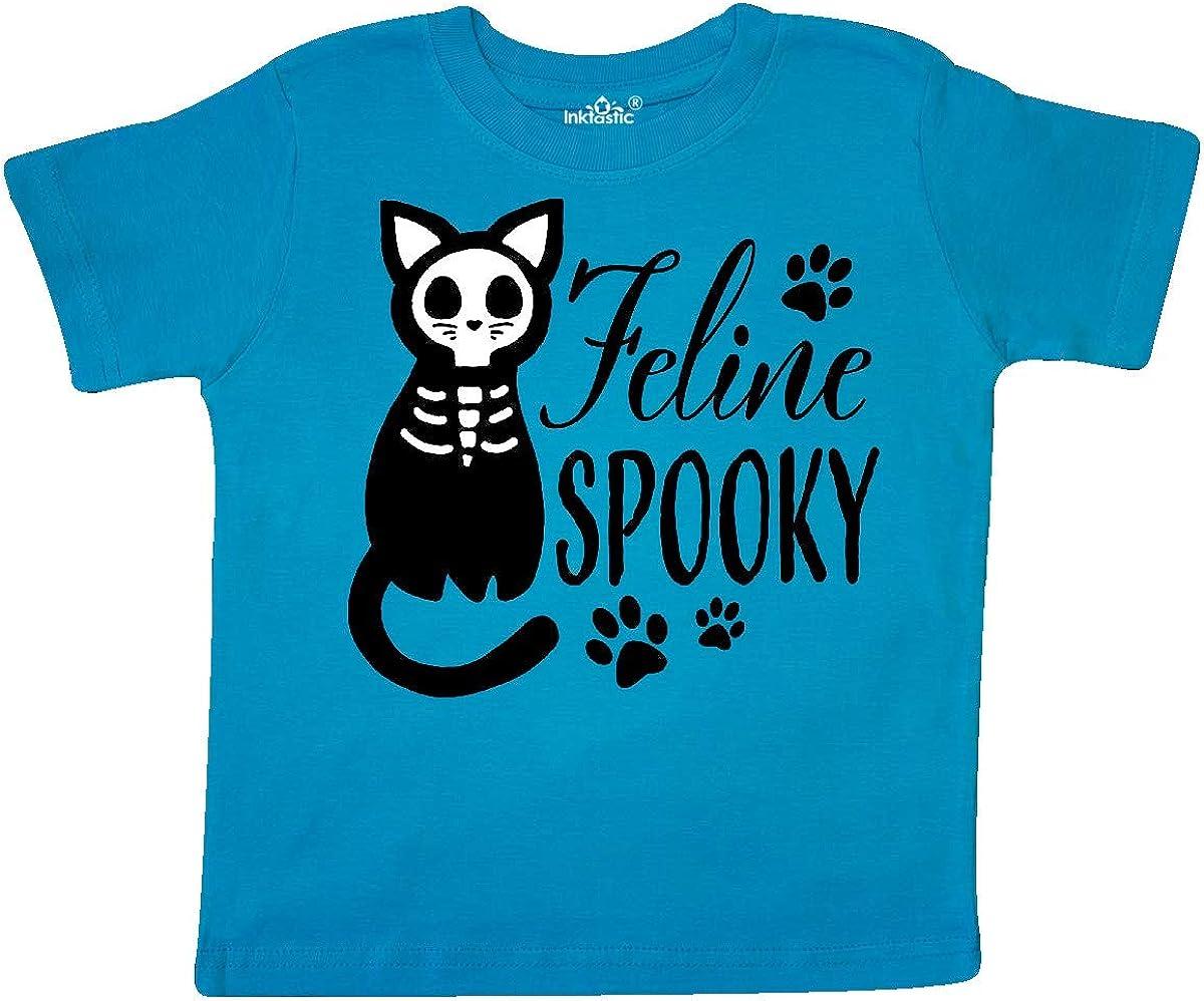 inktastic Feline Spooky with Skeleton Cat Toddler T-Shirt