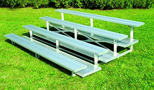4 Row Low Rise Bleacher Standard/15'/Anodized Aluminum (Low Bleacher Rise)