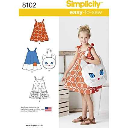 Amazon Simplicity Creative Patterns Simplicity Patterns Child's Stunning Sundress Patterns Simplicity