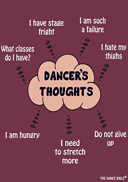 Dancer Thoughts A3 Size Dance Poster Wall Poster Dance Quotes