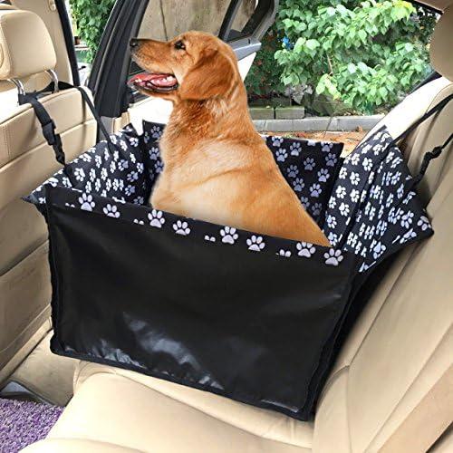 Chusstang Hunde Autositz f/ür Kleine Mittlere Hunde 2 in 1 Sitzbezug des Autos R/ückbank /& Vordersitz Hundesitz Wasserdicht Autositzbezug mit Verst/ärkte W/ände Extrem Langlebig