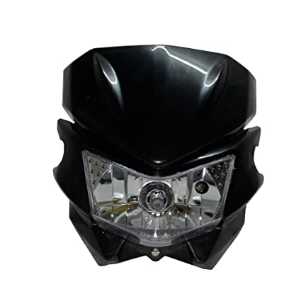 Auto Parts & Accessories Motorcycle Headlight Fairing Cover Headlamp Dirt Bike Street Fighter 12V 35W H4 Auto Parts and Vehicles
