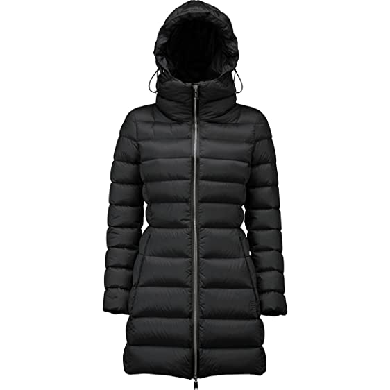 ADD Goose Down Coat with Hood - Women's Black, L at Amazon Women's ...