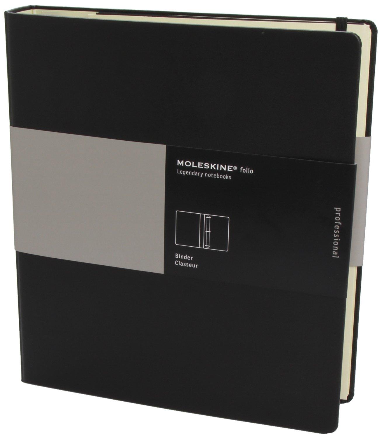 amazoncom moleskine folio professional 3 ring binder black 105 x 1175 professional folio series 9788862934954 moleskine books