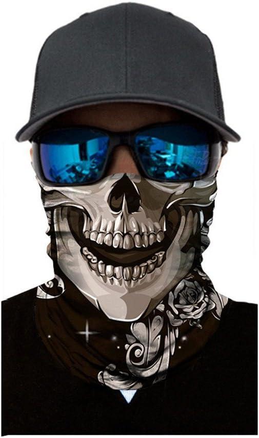 nahtloses Schlauchtuch Schal Multifunktionstuch Herren /& Damen Stirnband #12 Motorrad Gesicht Mundschutz Lustig Skull Maske Chopper Mund-Tuch Halsschlauch Halstuch Wind Face Shield Kopftuch