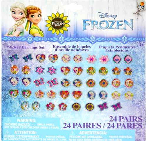 Disney Jewelry Set for Birthday gift or favors (Frozen FEVER Sticker Earrings (Total 96 pairs))