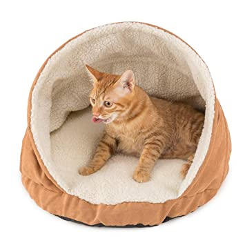 Allisandro - Cama redonda para gatos con forma de cueva, para cachorros y gatos pequeños: Amazon.es: Productos para mascotas