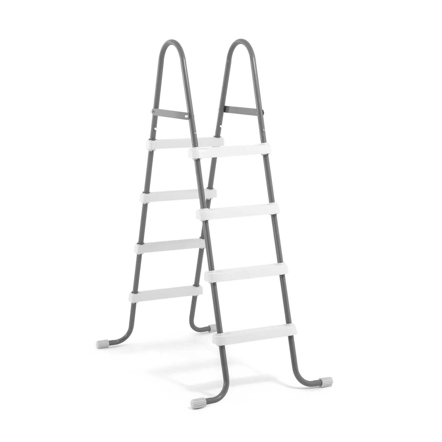 Intex 28066E Steel Frame Swimming Pool Ladder 48 Inch Wall Height Pools by Intex