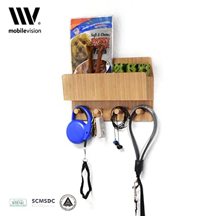 Charmant Bamboo Pet Supply Organizer All In One Wall Mounted Dog Leash Holder/Rack