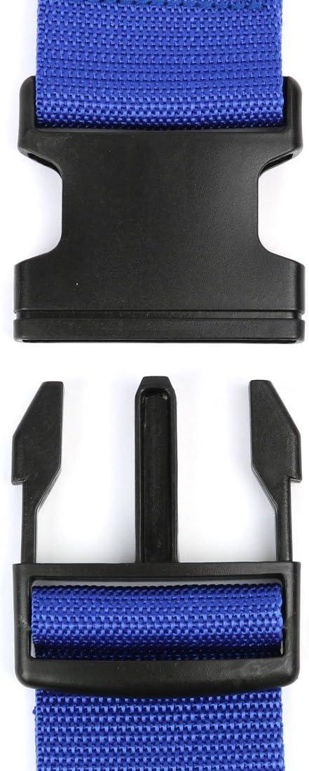 Black uxcell 2 pack Adjustable Travel Luggage Suitcase Strap Baggage Backpack Bag Cross Belt 2M